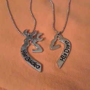 Jewelry - Her buck His doe Necklace set